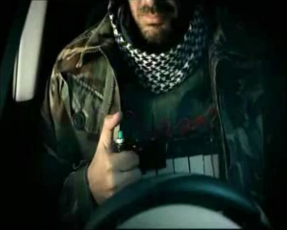 Exclusive: terrorist blows himself up in car